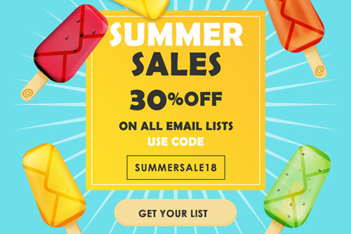 30% OFF on all lists!